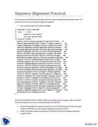 Sequence Alignment-Bioinformatics-lecture Handout