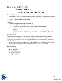 Nodal Analysis-Linear Circuit Analysis-Lab Mannual