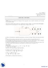 Linear Machine-Electro Mechanical Systems-Quiz Solution