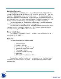 Executive Summary-Report Writing Skills-Final Report (Biomimetics)