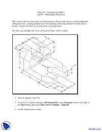 Orthographic Projections-Computer Aided Drawing-Lab Assignment