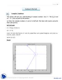 Complex Numbers Part 1-Signals and Systems-Lab Mannual