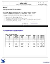 SQL-Database Management System-Assignment