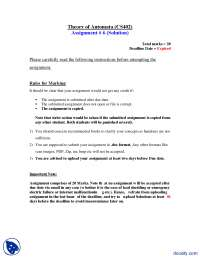 Conversion FA to PDA-Theory of Automata-Assignment Solution