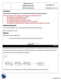 LinkedList, Cricket Players-Data Structure-Assignment
