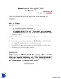 Goal Directed Model, Telecom Company-Human Computer Interaction-Assignment