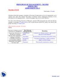 Principles Of Management-Management-Assignment Solution