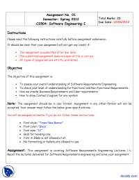 Functional and Non Functional Requirements, Context Diagram-Software Engineering-Assignment