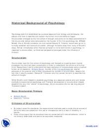 Historical Background of Psychology-Phsycology-Lecture Handout