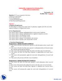 Business Requirements, User, Functional, Non Functional Requirements-Software Engineering Basics-Assignment Solution