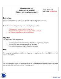 Sequence Diagrams-Data Structure-Assignment
