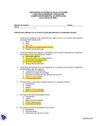 Nefrología – Diciembre 4 de 2008 - Examen - Universidad Autónoma de Baja California