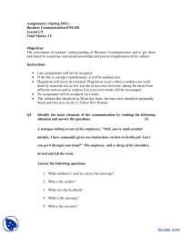 Basic Elements of Communication-Business Communication and English Language-Assignment