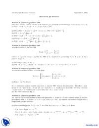 Random Variable Part 4-Probability and Statistics-Assignment Solution