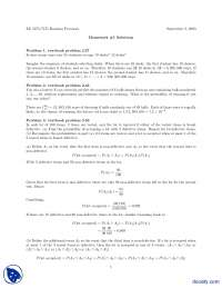 Union and Intersection Part 1-Probability-Assignment Solution
