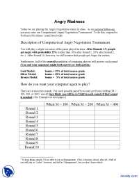 Angry Madness-Game Theory For Managers-Handout