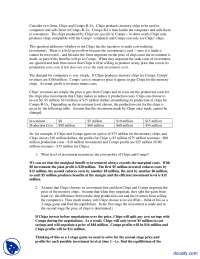 Chipz And Comps RUs-Applied Economics-Aassignments-Solution