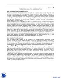 Production Analysis And Estimation-Managerial Economics-Lecture Notes
