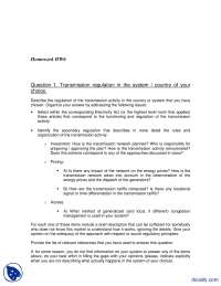 Transmission Regulation And Proposal-Eng Economics and Power Distribution-Assignments