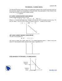 The Mundell Fleming Model-Macroeconomics-Lecture Notes