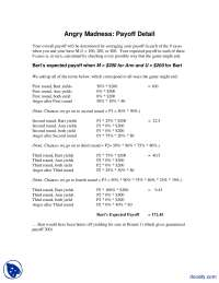 Angry Madness Payoff Detail-Game Theory For Managers-Handout