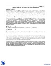Production Analysis And Estimation  Continued 2-Managerial Economics-Lecture Notes