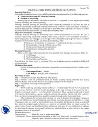 Financial Forecasting And Financial Planning-Financial Management-Handouts