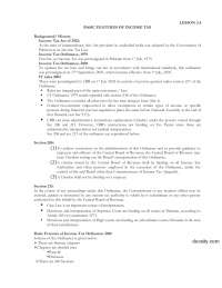 Basic Rules Of Income Tax-Taxation Managment-Lecture Notes