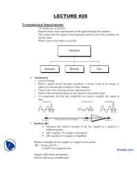 Transmission Impairments-Data Communication-Lecture Notes