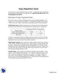 Angry Negotiation Game-Game Theory For Managers-Handout