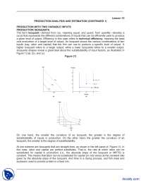 Production Analysis And Estimation  Continued 1-Managerial Economics-Lecture Notes