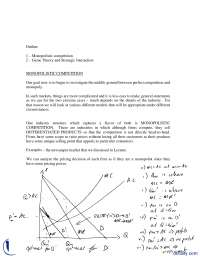 Monopolistic Competition, Game Theory And Strategic Interaction-Applied Economics-Handouts