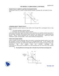 The Mundell Fleming Model 2-Macroeconomics-Lecture Notes