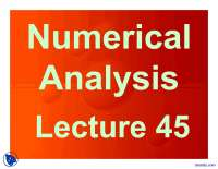 Summary-Numerical Analysis-Lecture Slides