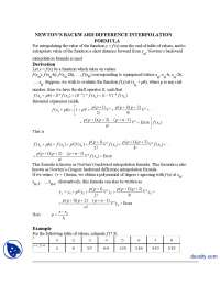 Newton's Backward Difference Interpolation Formla-Numerical Analysis-Lecture Handouts