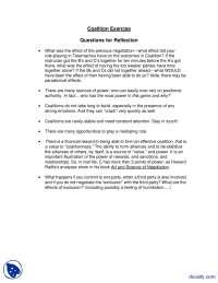 Coalition Exercise-Confilict Management-Lecture Notes