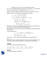 Interpolation Newtons Forward Difference Formula-Numerical Analysis-Lecture Handouts