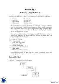 Software Lifecycle Models-Methods Of Software Engineering-Lecture Notes