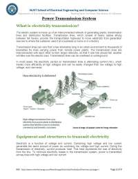 Power Transmission System-Power Distribution-Handout