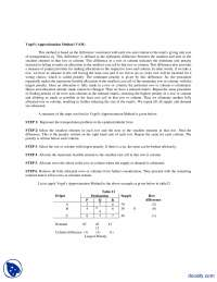 Vogel's Approximation Method-Operation Research-Handouts