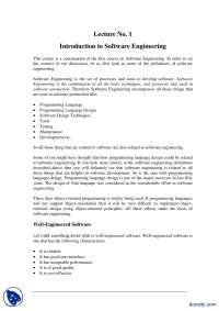Introduction to Software Engineering-Methods Of Software Engineering-Lecture Notes