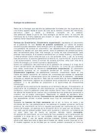 Ecología de poblaciónes - Apuntes - Ecología