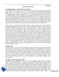 Media Influences-Media Managment-Handouts