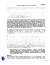Introduction Of Media Management-Media Managment-Handouts