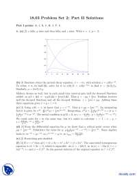 Problem Set 2, Complex Valued Functions, Critical Point-Differential Equations-Assignment Solution