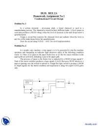 Design Problem Chemical Plant-Digital Logic Design-Assignment
