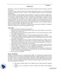 Media Bias-Media Managment-Handouts