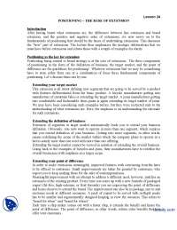 The Base Extension-Brand Management-Lecture Handout