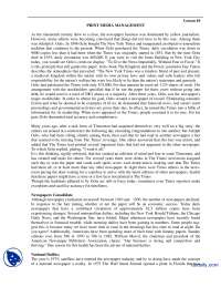 Print Media Management-Media Managment-Handouts
