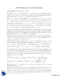 Problem Set 4, Complex Functions-Differential Equations-Assignment Solution